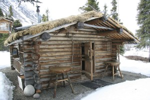 Dick Proenneke's Cabin at Twin Lakes in Lake Clark National Park in Alaska.  Photo by a National Park Service employee.