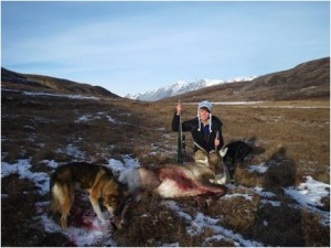My first caribou kill in the mountains surrounding Fielding Lake.