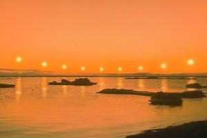 Midnight Sun on the Arctic Ocean